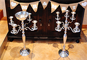 SILVER CANDLE STICKS